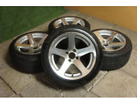 "Genuine Performa 15"" Concave Alloy wheels 4x100 Clio Corsa Civic Golf Polo Mx5 Eunos Alloys Stance"