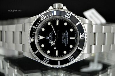 2007 MEN'S ROLEX SUBMARINER NO DATE 14060 STAINLESS STEEL BLACK DIAL DIVERS 40MM