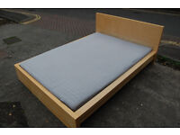 IKEA MALM double bed, Oak veneer / luröy