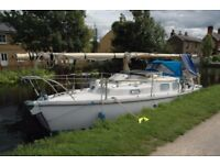 30' Sailing Boat – Canal Coastal River - London Live Aboard cheaper than a Narrow boat