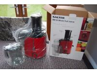Salter 800W Whole Fruit Juicer in Red. NEW -Still in box & never used.