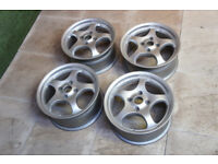 "Genuine BORBET T 15"" Alloy wheels 4x108 Ford Fiesta Puma Focus Peugeot Citroen Alloys"