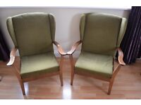 Vintage fireside arm chairs