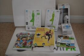 nintendo wii, wii- fit, games and accesories