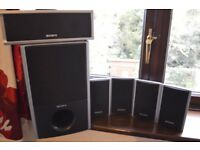 Sony 5.1 Surround Sound Speakers and Sub Woofer (Black)