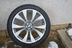 Genuine BMW X5 Sport E70 227 M staggered alloy wheels and tyres, 2 front and 1 wider rear available