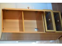 Hi Fi Unit Glass fronted with 2 shelves and 2 drawers