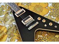 GIBSON FLYING V EBONY 2016 T - Absolutely beautiful Cond. Inc Official Gibson Softcase