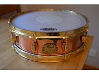 Pearl marvin Smitty Smith Signature copper snare drum 14 x 4