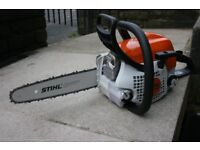Stihl MS171 petrol chainsaw as new