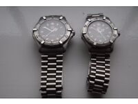 Tag Heuer 2000 automatic wristwatch - 1980's - Men's and mid-sized pair for sale.