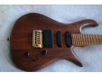 Langowski electric guitar - Poland - hand-made- rare in the UK