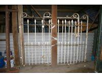 Wrought iron Victorian gates architectural salvage.