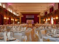 Wedding Chair Hire £2.20 Table Decoration Hire £5 Banquet Table Rent £9 Venue Uplighting £25 Vase