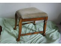antique vintage SOLID WOOD boudoir throne/stool make-up table seat upcycling project piano