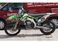 **CHRISTMAS SALE NOW ON**KAWASAKI KX 450 F ROAD REGISTERED 2013 MODEL**£3400**