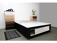 DOUBLE DIVAN BED BASE IN BLACK WITH SLIDER £105 ONLY FREE DELIVERY
