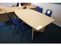 Light oak effect contemporary Meeting Table, 1600mm x 980mm