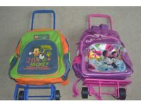 Disney Backpacks with trolley attach