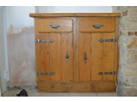 Solid Oak Kitchen unit fronts with metal hinges ideal for farmhouse or cottage.