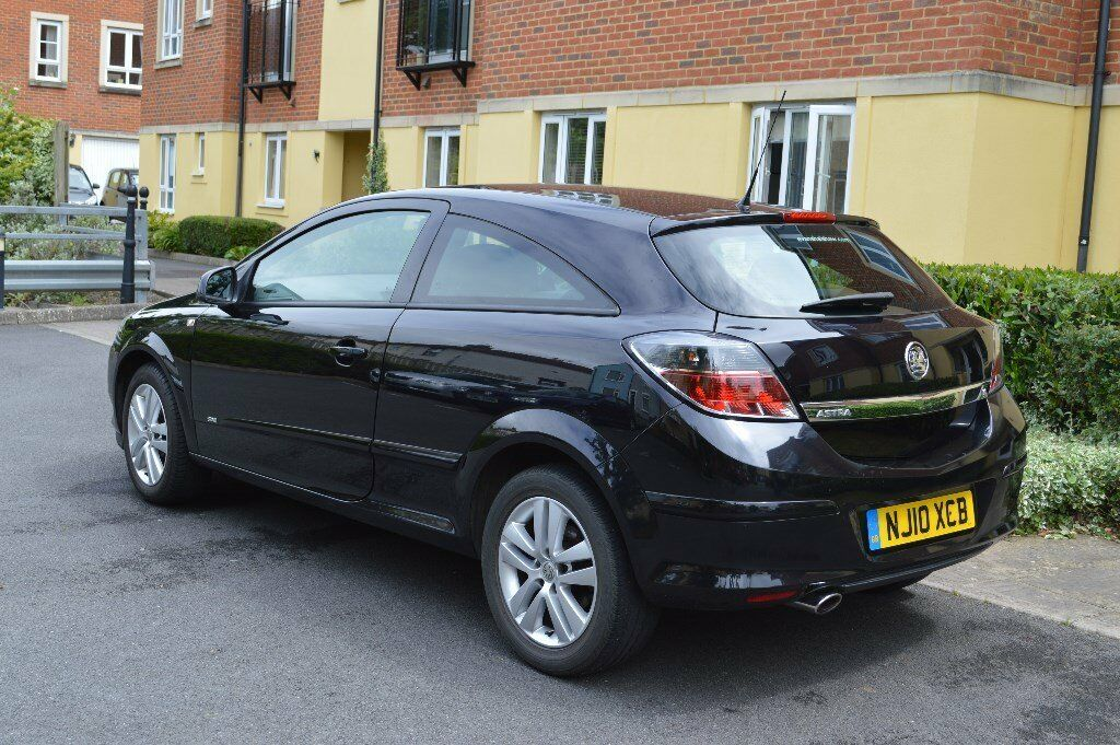 Vauxhall Astra 2010 3dr Black 16 Petrol 63500 Miles In