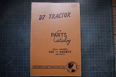 Cat Caterpillar D7 Crawler Tractor Part Manual Book 9g