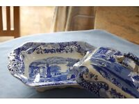 Spode Blue Italian large vegetable dish with lid