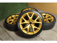 "Genuine Vauxhall Corsa D VXR 18"" Alloy wheels 5x110 Vectra Astra Zafira Opel Gold Alloys"