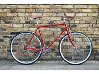 Hackney Club single speed fixed gear fixie road bike/ bicycles + 1year warranty & free service ww7
