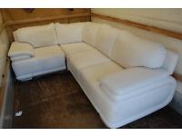 White sofa / sofa bed / corner sofa / leather sofa