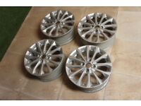 "4x Genuine FORD Fiesta 16"" Alloy wheels 4x108 Fiesta MK6 MK7 MK8 MK9 Puma Focus Silver Alloys"