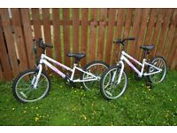 1 or 2 Apollo Envy Girls Bikes for ages 8-10 years. Hardly used.
