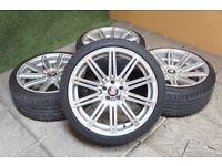 "Genuine AXE EX15 Staggered 18"" Alloy wheels 5x100 VW Golf MK4 Bora Beetle Audi A3 TT Alloys"