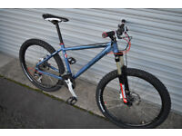 CARRERA VULCAN MOUNTAIN BIKE, 16 inch frame, Marzocchi forks, hydraulic, NEW PARTS, CUSTOM PROJECT