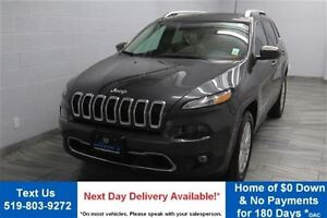 2016 Jeep Cherokee LIMITED V6 3.2L 4WD w/ NAVIGATION! PANORAMIC