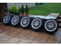 """AUDI A4 A6 RS4 RS6 5x 19"""" GENUINE BBS SPEEDLINE ALLOY WHEEL AND TYRE 255/35/19 6mm"""