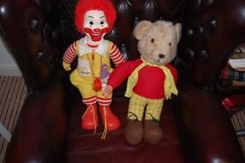 OLD/VINTAGE SOFT TOYS. COLLECTION FROM WHITBY ONLY. CHECK OUT PHOTOS.