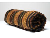 Yak wool blanket/shawl BLACK