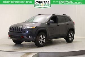 2016 Jeep Cherokee Trailhawk**BLUETOOTH**LEATHER/CLOTH SEATS**TO