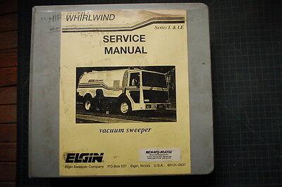 Elgin Whirlwind L Le Street Sweeper Operator Service Repair Parts Manual Book