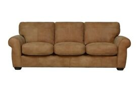 Extra Large 3 Seater Sofa in Brown Tan Leather | Free Delivery Within 3-5 Days