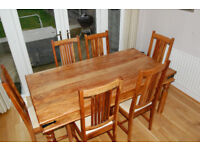 John Lewis Dining room table and 6 chairs