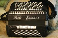 VERY RARE PAOLO SOPRANI SUPER - SIX ROWS - B SYSTEM ACCORDION