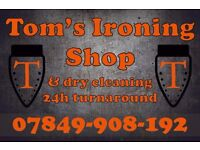 Ironing and Dry cleaning service. 24 hour turnaround. Free collection & delivery.