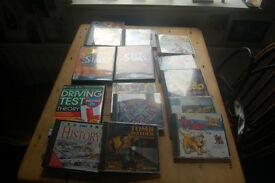 Computer games, Catz 11, Tomb raider, Frogger, The Sims, Cluedo , Titanic etc