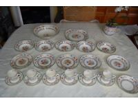 'Chinese Rose' Fine Bone China by Spode, Gorgeous Part Set of 36 items, Most in Very Good Condition.