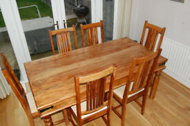 John Lewis Dinning room table and 6 chairs