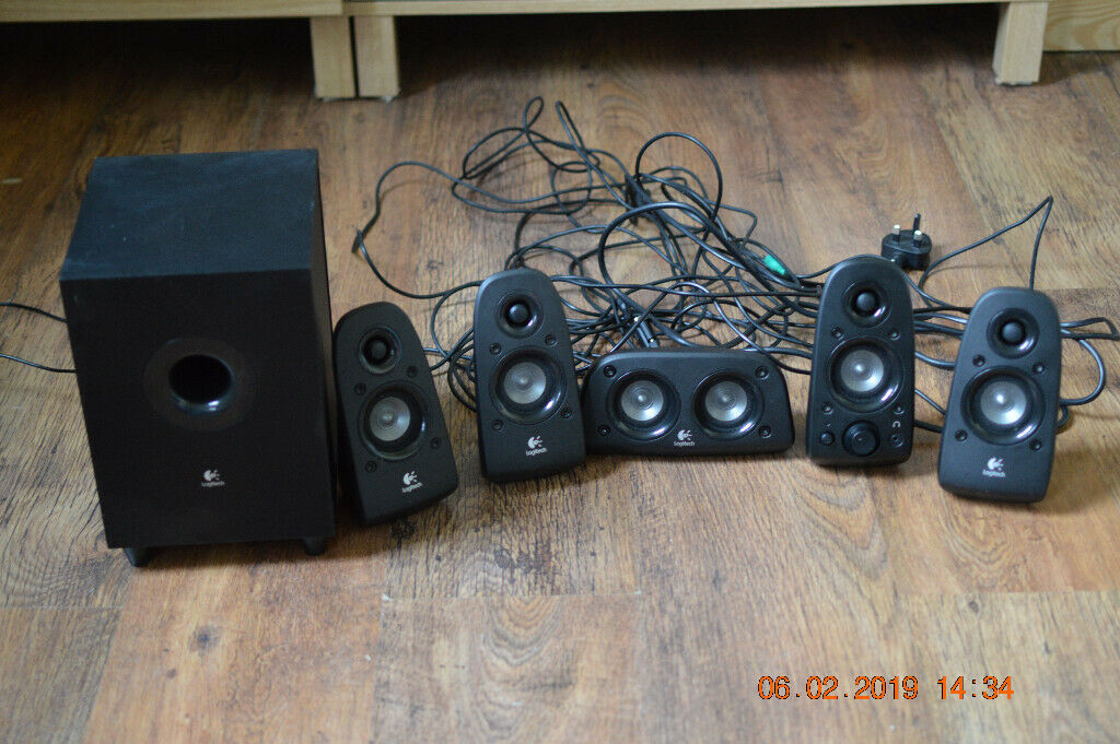 ede10b6f2f3 Logitech Z506 5.1 Speakers, Used, Fully working with Bluetooth adapter