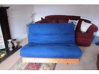 Futon double seater sofa bed