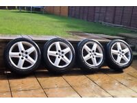 "17"" Audi Alloys WheelsTyres* 235/45/17 *5x112 *A4 A6 Golf 5 Skoda Polo VW T4 T5 #Bargain"